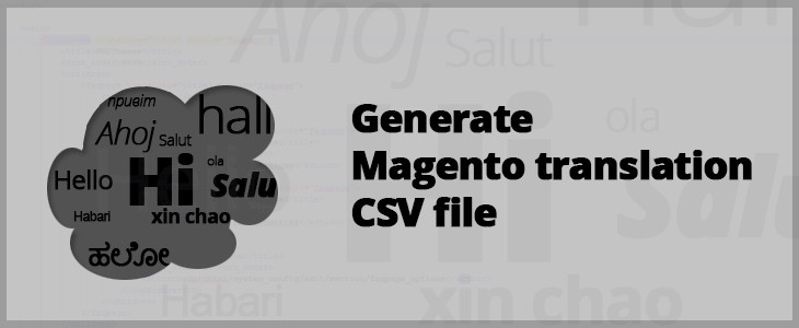 Generate magento translation file