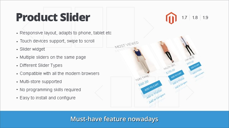Responsive Product slider magento extension