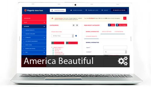 Wunderadmin Magento admin theme - America Beautiful color scheme