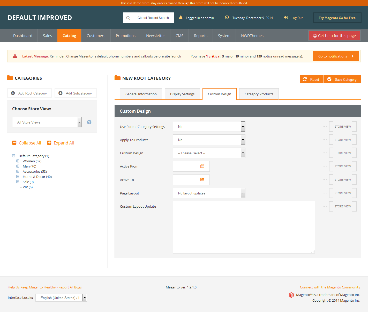 Magento Admin Theme - Default Improved