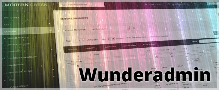 Wunderadmin - magento admin skin