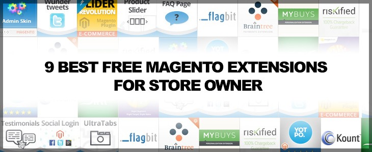 9 Best free magento extensions for store owner