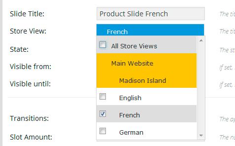 Multi Language Revolution Slider for Magento - French