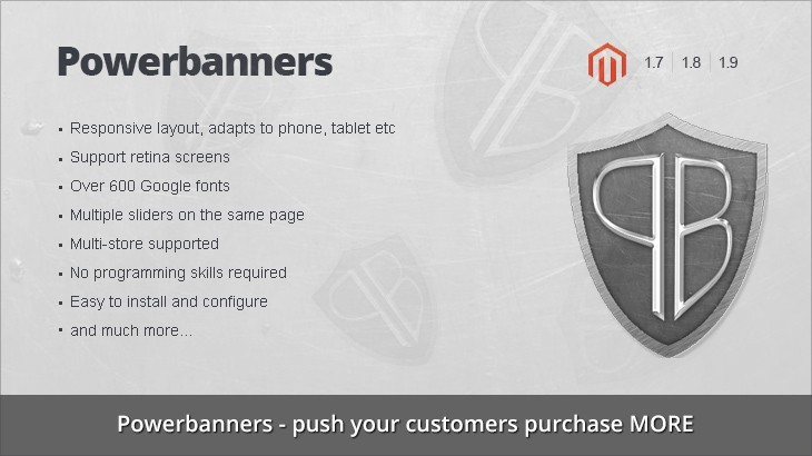 Powerbanners - Responsive banner slider magento extension