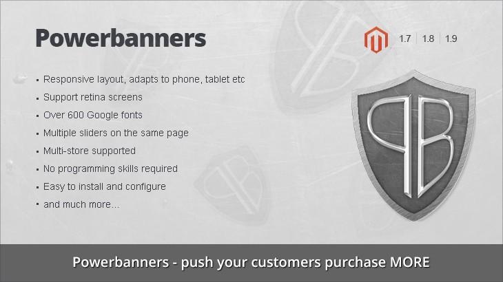 Powerbanners - Responsive banner slider magento extension