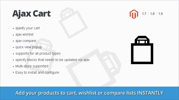 NWDAjax - Ajax Cart magento extension