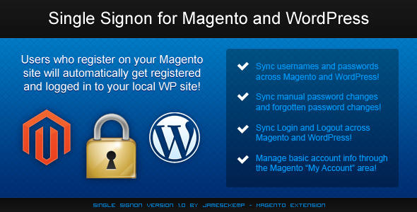 Single Sign-On For Magento And WordPress