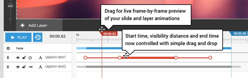 Magento Slider Revolution 5 Animation Timeline