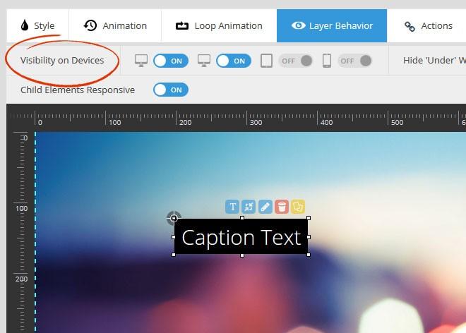 Magento Slider Revolution 5 Device Visibility