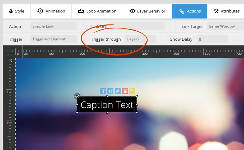 Magento Slider Revolution 5 Layers Actions