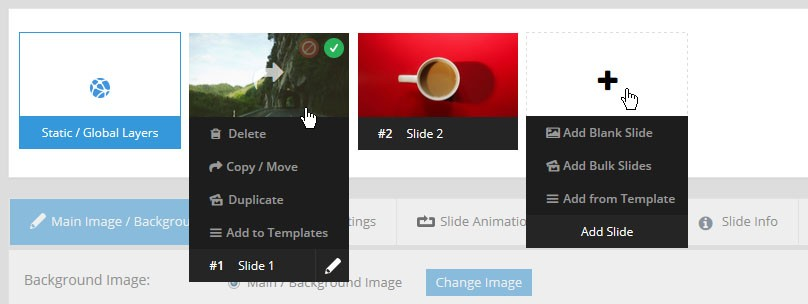 Magento Slider Revolution 5 Slide Editor Options