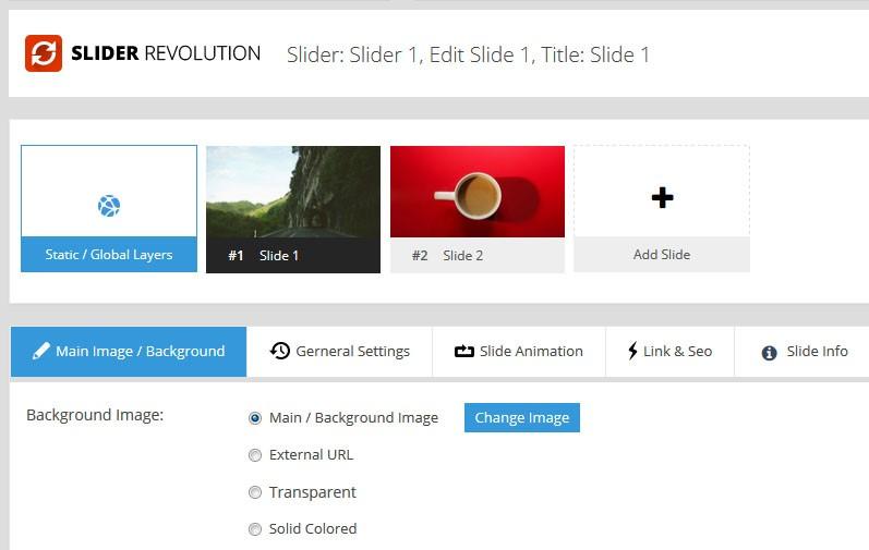 Magento Slider Revolutio 5 Slide Editor