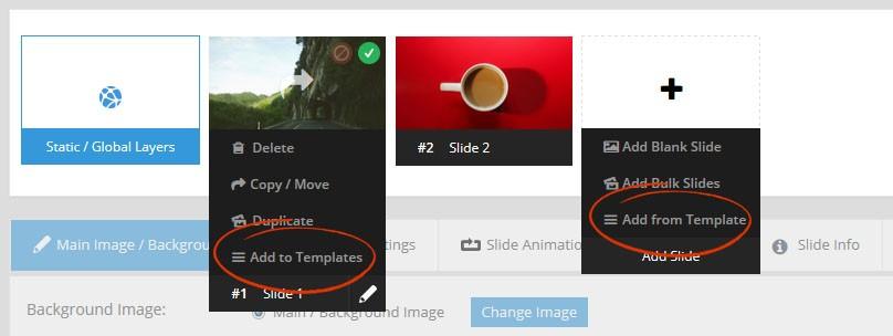 Magento Slider Revolution 5 Slide Templates