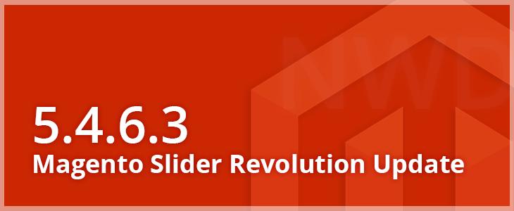Update of Magento Slider Revolution 5 4 6 3: Magento 2 2