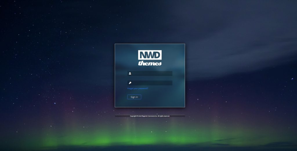 Dark theme login page